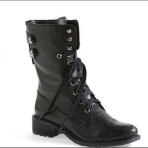 Leather Sam Edelman Combat boot